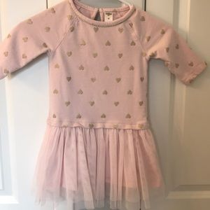 Pink and gold dress size 4T